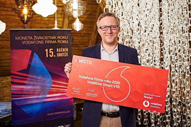 Jakub Vykoukal, HR Director společnosti LASVIT, Vodafone Firma roku 2020 Hlavního města Praha