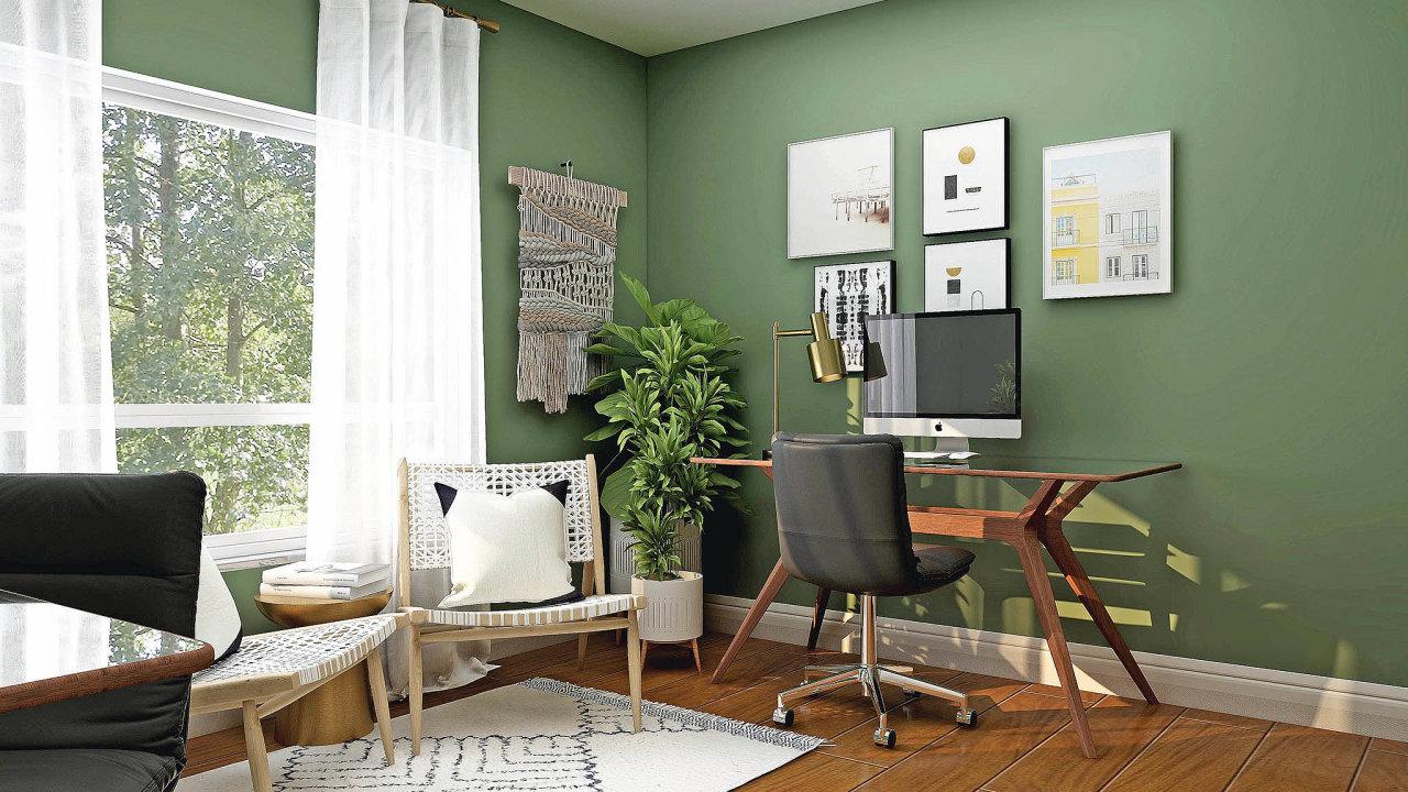 Doma lze pracovnu zařídit útulněji, než známe zkancelářských budov. Časté je minimalistické řešení svyužitím světlého dřeva. kancelář je ale možné oživit ivýraznějšími barvami, je však třeba vybírat srozvahou. Časté je použit...