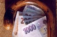 Důchod, peníze, hůl