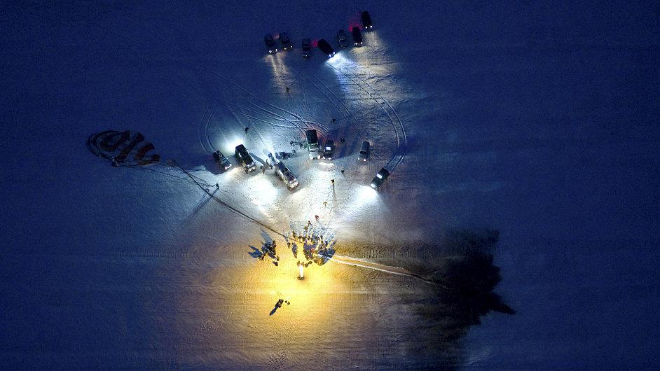Přistání modulu Sojuz