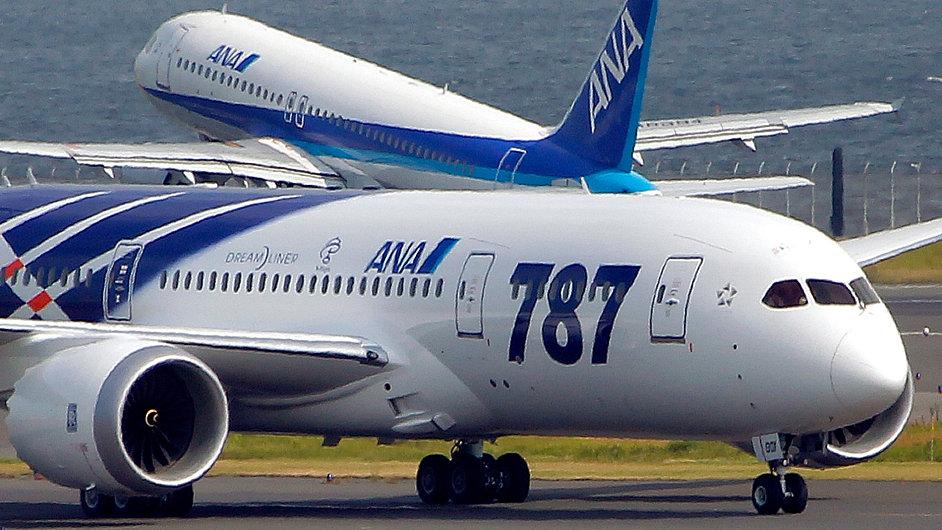 Letoun Dreamliner v Tokiu