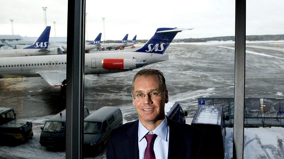 Rickard Gustafson, šéf prodělečných Scandinavian Airlines (SAS)