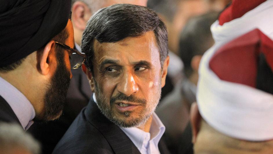 Ahmadínežád v Egyptě.