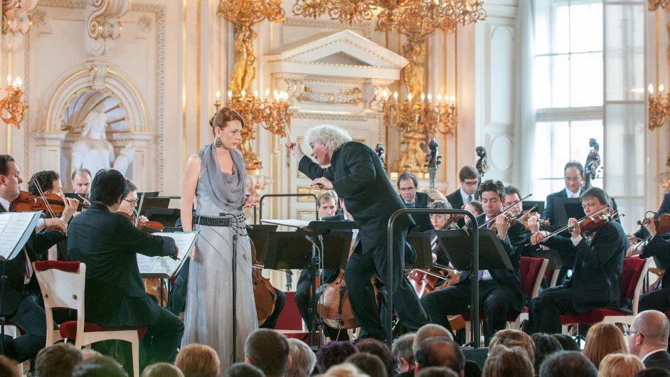 Berlínská filharmonie s Magdalenou Koženou a sirem Simonem Rattlem, Španělský sál Pražského hradu, 1. května 2013