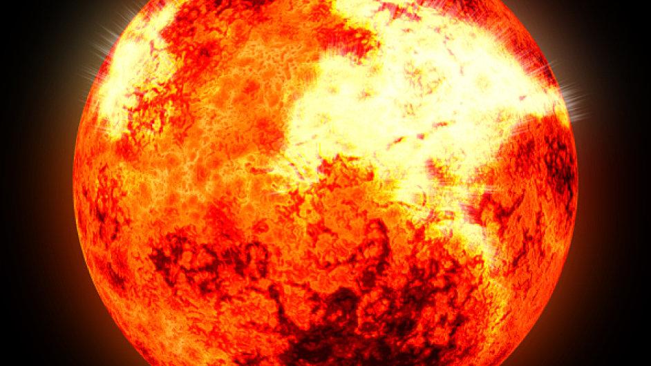 Erupce, hvězda, žhavé slunce. Ilustrační foto