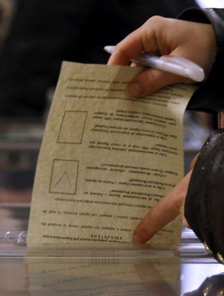 Hlasovací lístek referenda na Krymu