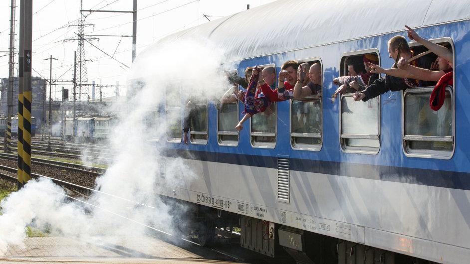 Sparťanští fanoušci v Ostravě