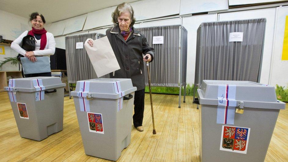 Ve volební místnosti