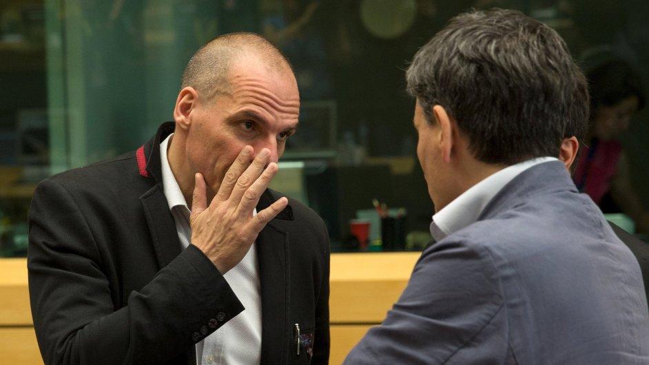 Řecký ministr financí Janis Varufakis na jednání Euroskupiny.