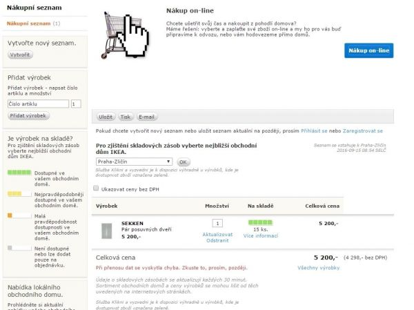 E-shop IKEA.