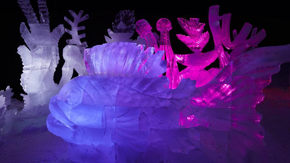 V osadě Pustevny se každoročně koná ledové symposium.
