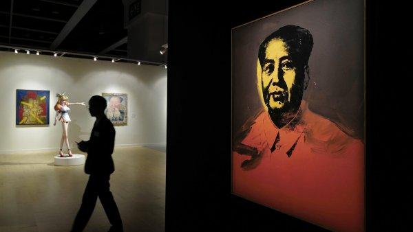 Portrét Mao Ce-tunga, který se prodal za 11 milionů dolarů.