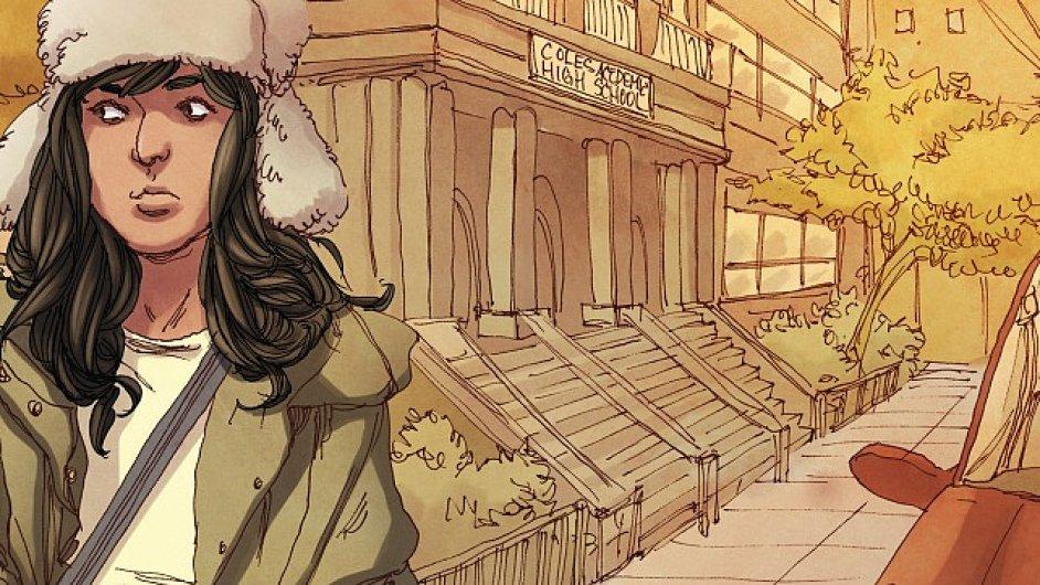 Muslimská dívka Kamala Khanová v komiksech vystupuje jako superhrdinka Ms. Marvel.