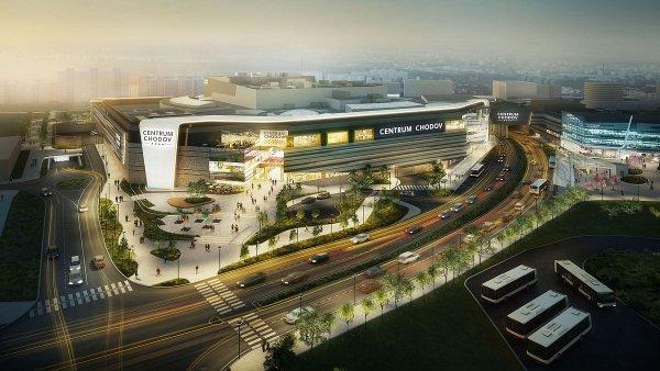 Slavnostní otevření nového centra Chodov (na snímku je jeho vizualizace) se uskuteční ve středu 11. října.