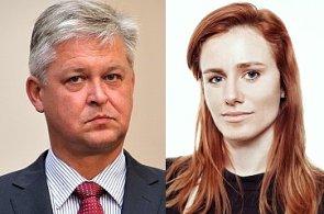 Miroslav Zámečník, ekonomický analytik České bankovní asociace; Monika Petrásková, manažerka PR a komunikace