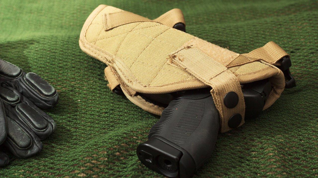 Airsoftová zbraň.