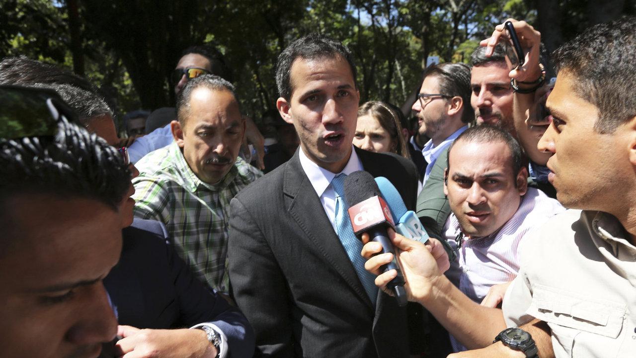 Předseda venezuelského parlamentu Juan Guaidó.