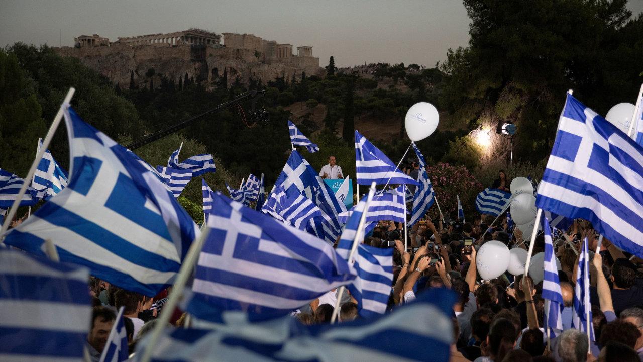 Řecko volby Nová demokracie