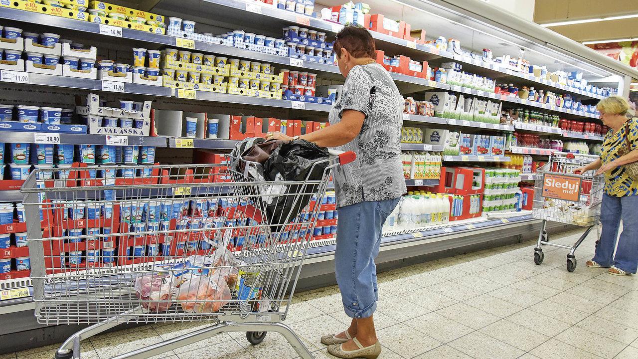 Obchodníci chtějí namenší plochu dostat stejně nebo ivíce zboží (ilustrační foto).