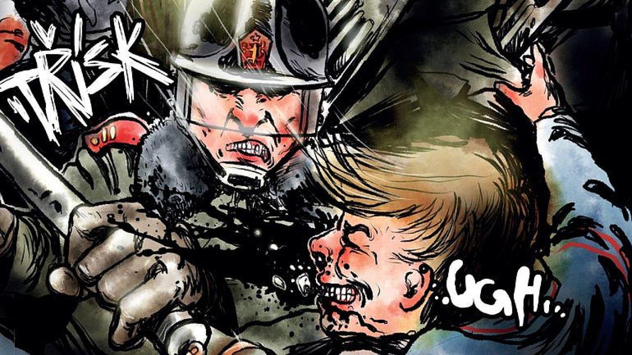 Řežba na Národní v komiksu: Vysvětlit dětem revoluci je těžké, líčí autoři Trikolory