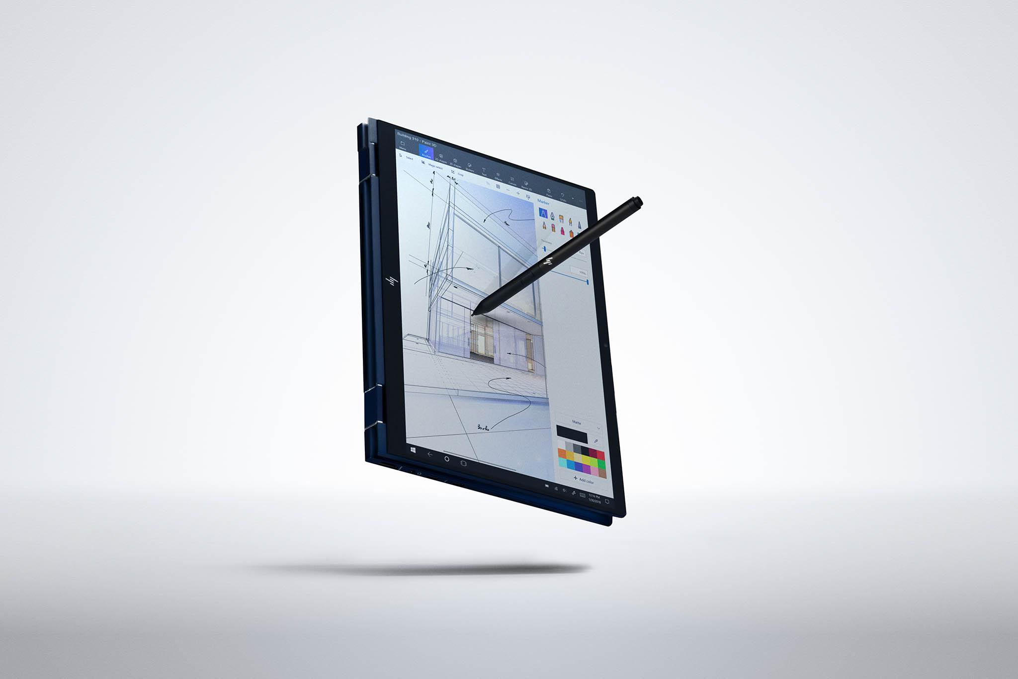 """Notebook HP Elite Dragonfly lze otočením dotykového displeje o360 stupňů proměnit vtablet. Iproto dostal jméno """"vážka""""."""