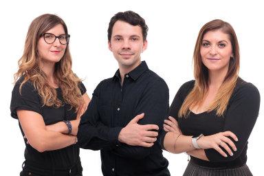 Terezie Pokorná, Jakub Dresler a Mariana Wolhrabová, agentura Taste
