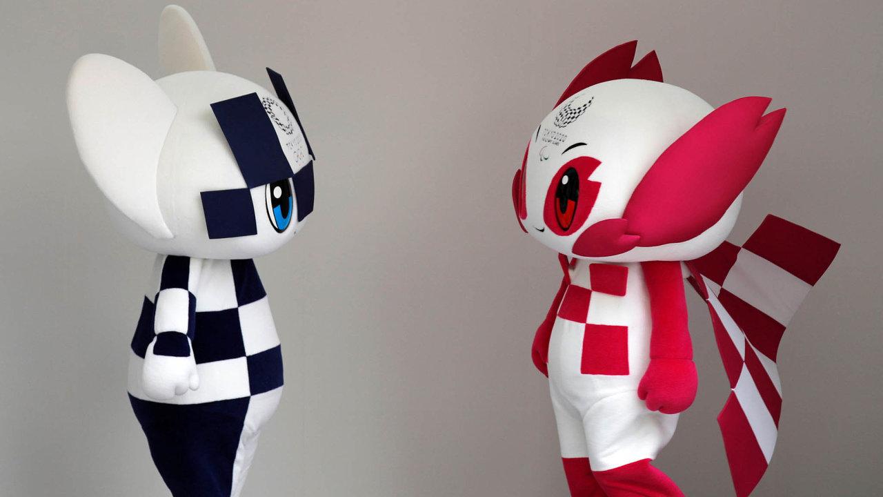 Maskoti z obou světů. Postavičky Miraitowa aSomeity podle tvůrců žijí ve virtuální realitě, spomocí internetu se ale dokážou