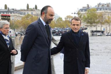 Premiér Édouard Philippe je nyní uFrancouzů populární. Hrozí, že zastíní iprezidenta Emmanuela Macrona.