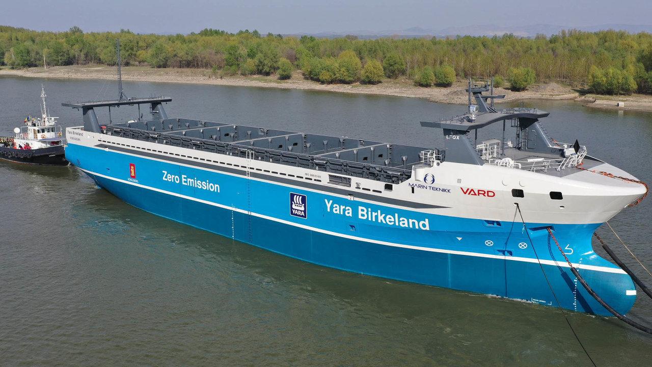 Bez lidí: Loď Yara Birkeland by měla příští rok zahájit novou éru námořní přepravy.