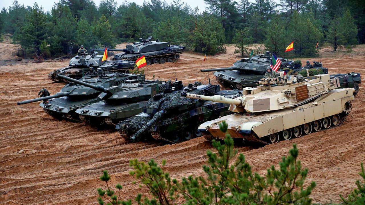 Přítomnost vEvropě: Americká armáda podporuje evropské spojence vNATO mimo jiné namisi vPobaltí.