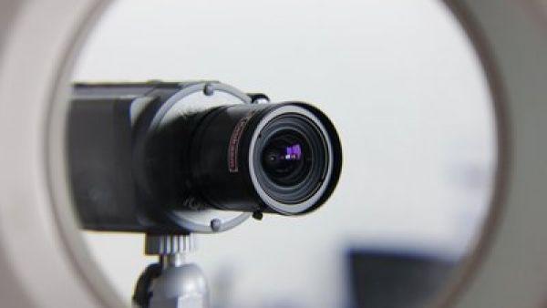 Bezpe�nostn� kamera, ilustra�n� foto