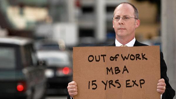 Krize. Nezaměstnaný MBA. Ilustrační foto.