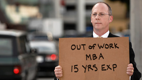 Krize. Nezam�stnan� MBA. Ilustra�n� foto.