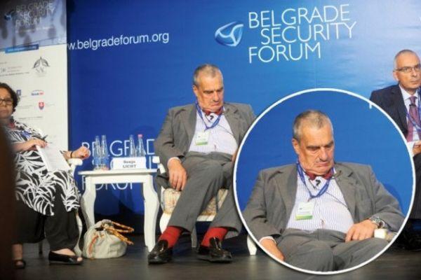 Karel Schwarzenberg na Bezpečnostním fóru v Bělehradě