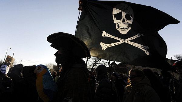 Policie stíhá pirátskou stranu - Ilustrační foto.