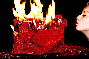 Jak hoří kabelka za dva miliony? Takhle dvojice umělců ráda ničí luxusní věci