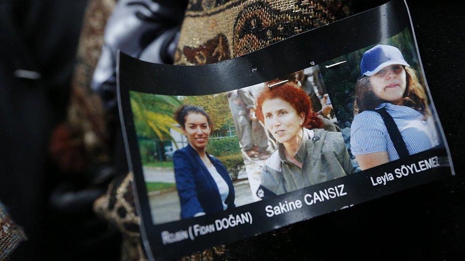 Tři kurdské aktivistky zastřeleny v Paříži. Portréty pravděpodobných obětí