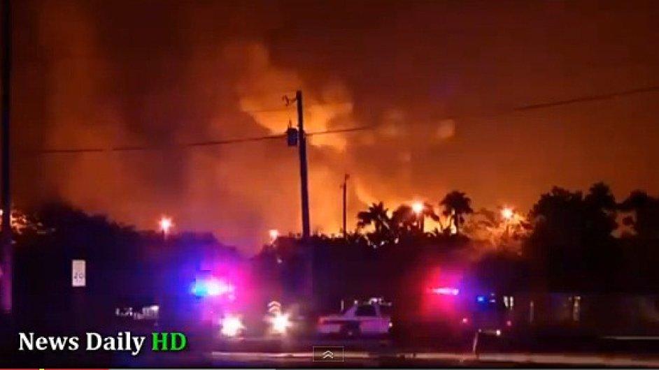 Exploze v továrně na propan v Tavares