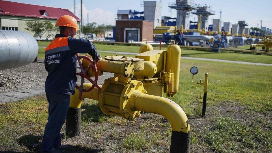 Plynové zásobníky u města Stryj na Ukrajině