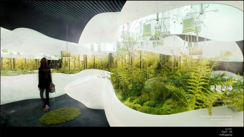 Návrh laboratoře lesa pro český pavilon na EXPO 2015