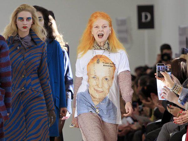 Designérka Vivienne Westwoodová na přehlídce v roce 2013