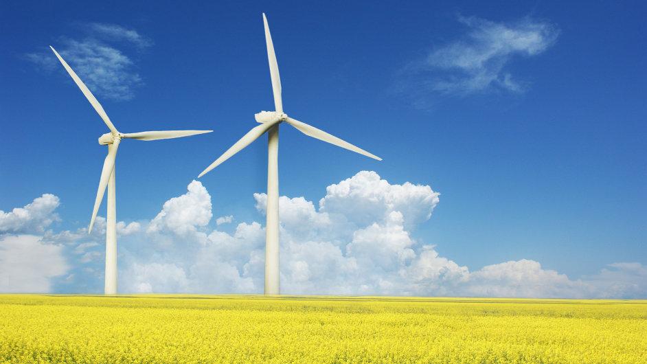 Větrné elektrárny, ilustrační foto