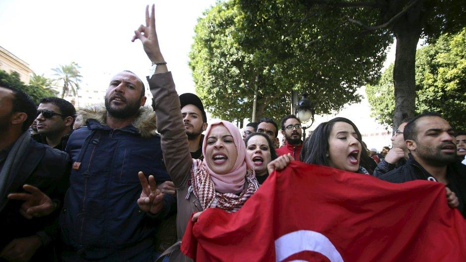 Tunisko, protesty