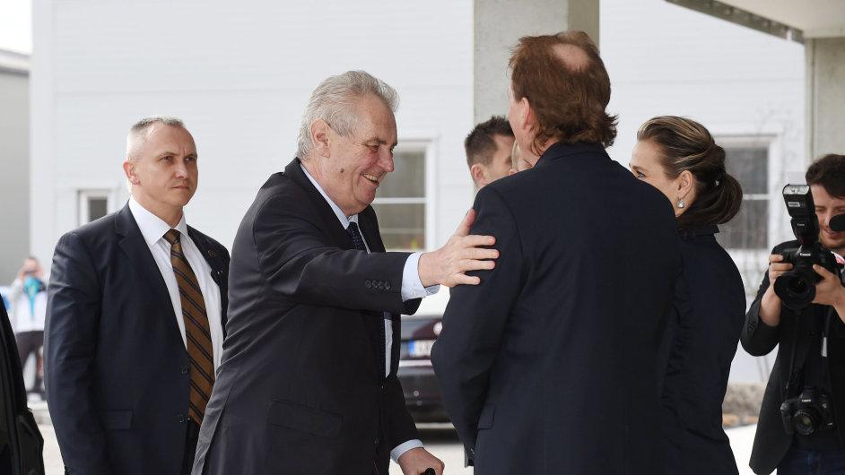 Miloš Zeman na návštěvě Olomouckého kraje