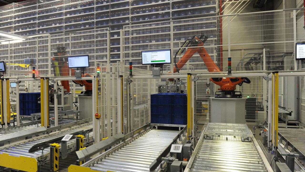 V novém automatizovaném skladu