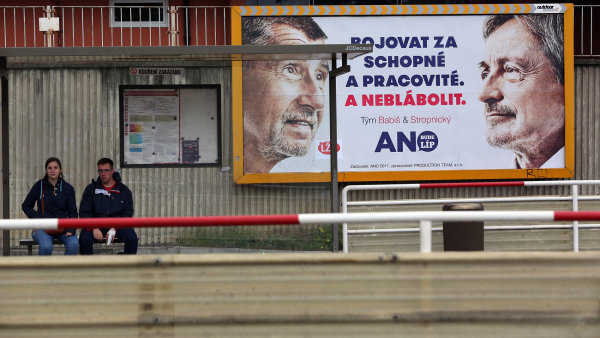 Volební billboard ANO.