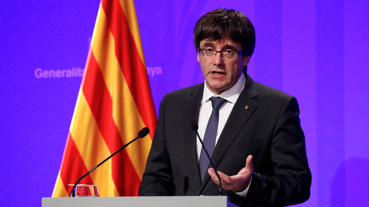 Carles Puigdemont, předseda katalánské vlády.