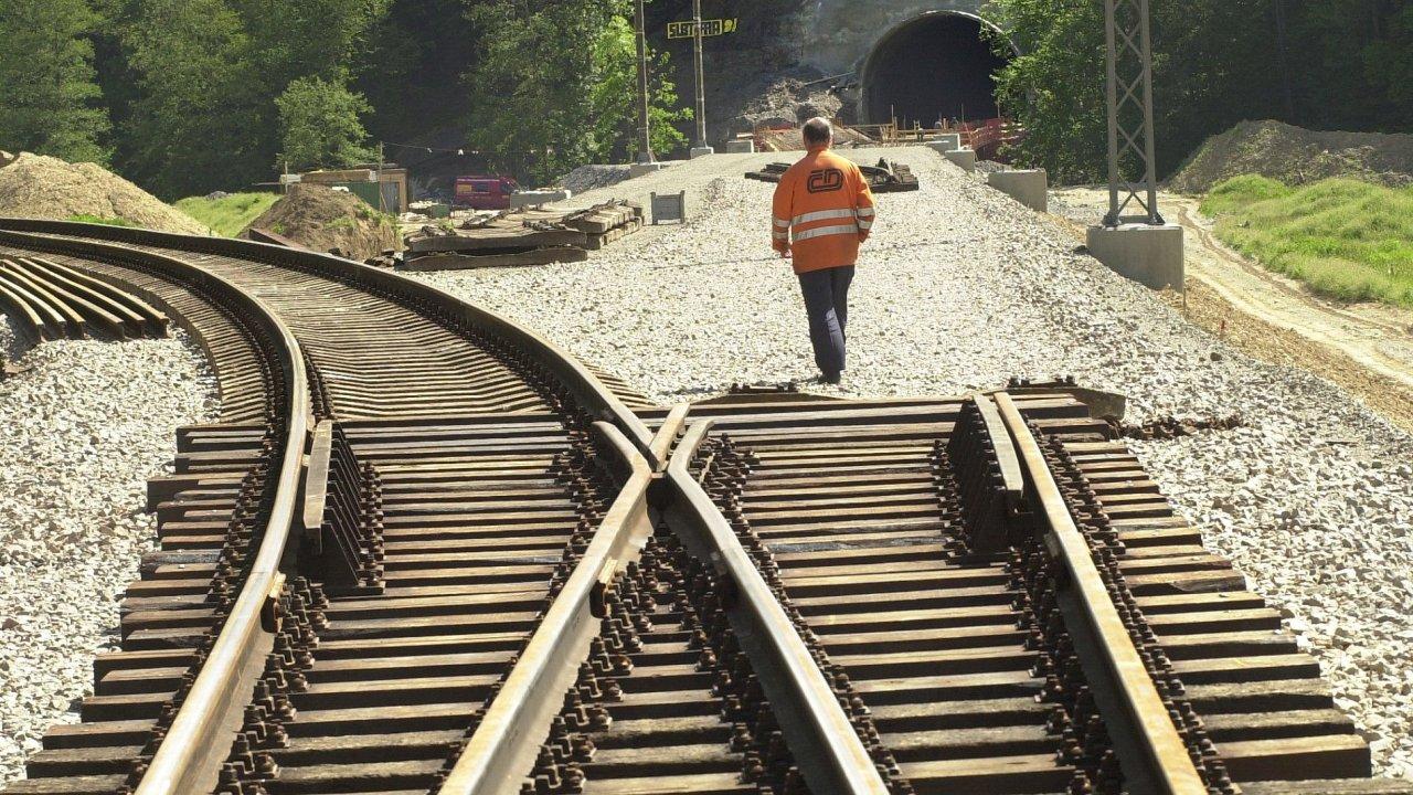 Stavba železničního koridoru, ilustrační foto