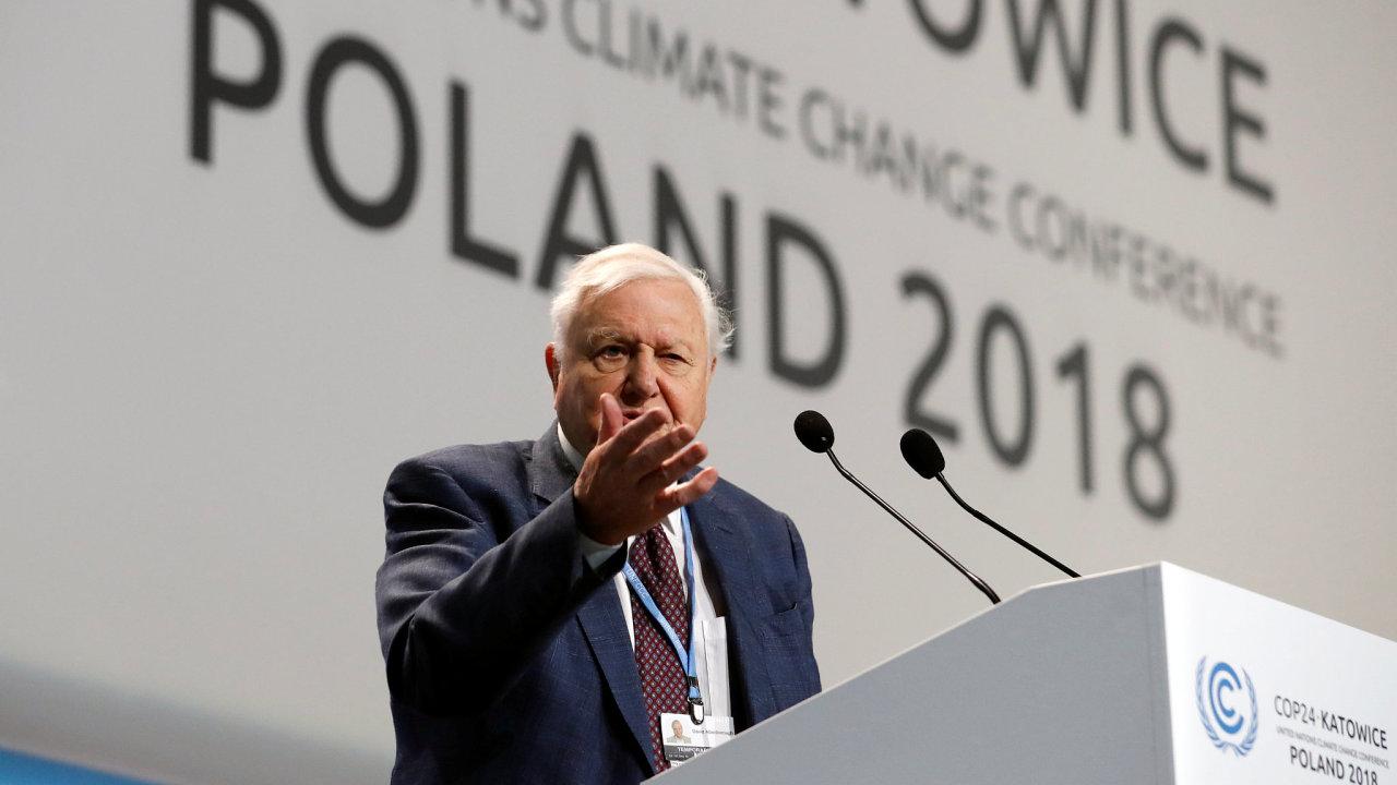 Známý britský přírodovědec David Attenborough.