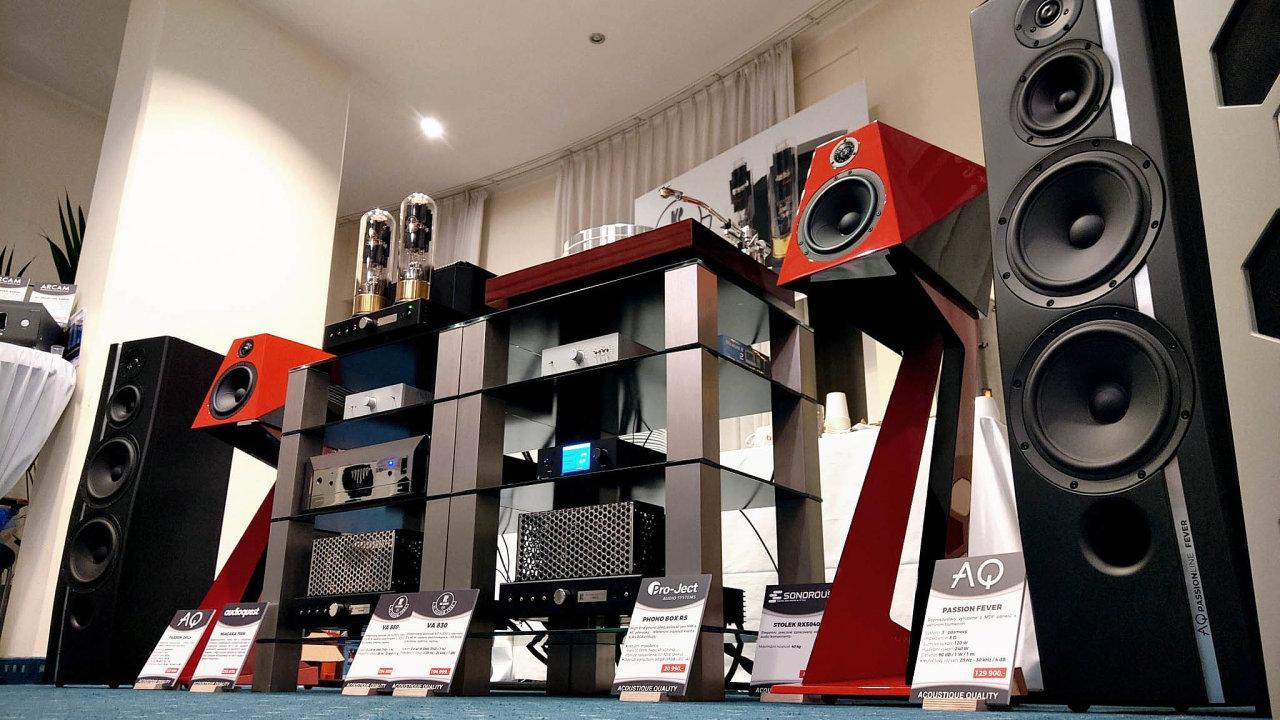 Na veletrhu Audio Show Praha 2020 se představilo několik špičkových reprosoustav českých výrobců, například modely Xavian Terza nebo AQ Passion Fever.